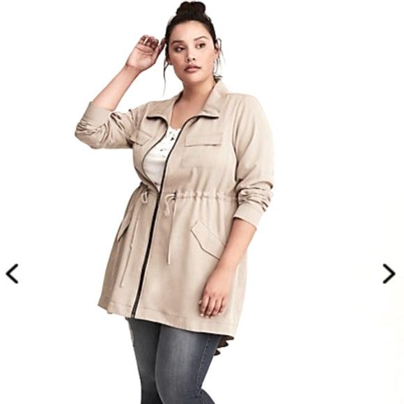 Torrid Tan Drape Twill Anorak Jacket Size 2x